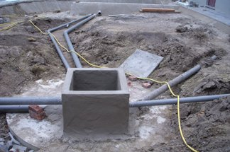 Verticale Drainage Tuin : Verticale drainage tuin tuin met waterpartij in adegem with